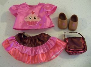Baby Alive Doll Clothes Cupcake Shirt Skirt Shoes Purse Accessory