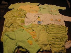 Lot of Baby Pajama Sleepers Clothes Boy Girl Unisex Size 0 3 Months