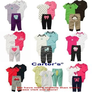 Wholesale 10set Lot Carter's Baby Boys and Girls Clothing Set Rompers Bodysuits