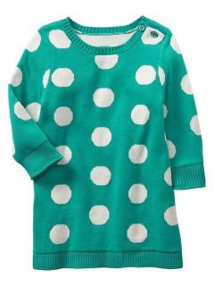Baby Girl Polka Dot Sweater Dress Baby Gap New
