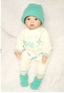 22 inch Reborn Baby Soft Silicone Vinyl with Stuffed PP Cotton Body Mohair Dolls