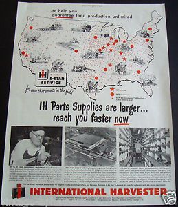 1951 International Harvester Tractor Parts Supplies Dealer Farm Equipment Ad IH