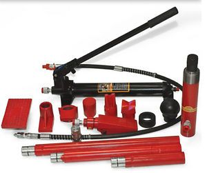 New 10 Ton Hydraulic Hand Pump Auto Body Frame Repair Kit Shop Equipment Tools