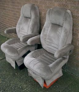 1996 Ford Econoline Carriage Van Pair Cloth Reclining Front Seats Captain Chairs