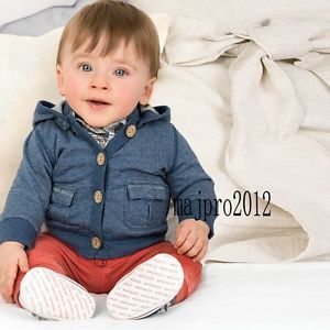 Boys Kids Baby 1 6Y 2pcs Motion Hooded Coat Jacket Pants Clothing FT44
