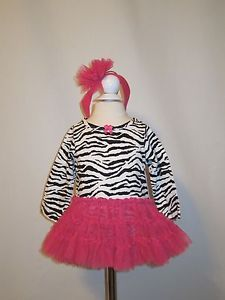 New Baby Girls Zebra Print Tutu Dress with Headband 3 6 Months Clothes