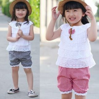 Cotton Ruffle Baby Girls' Summer Clothing Sets Top Pant НАБОРЫ ОДЕЖДА МЛАДЕНЦА