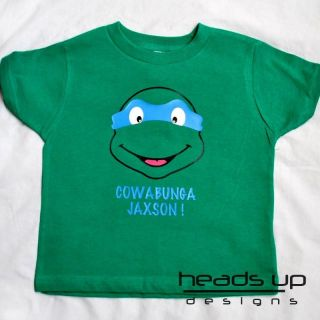 Teenage Mutant Ninja Turtle Personalized Shirt Boy Girl Baby Infant Kid Onesie