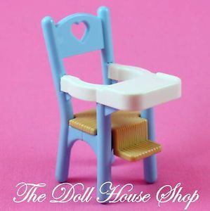Blue Baby Doll High Chair Nursery Fisher Price Loving Family Dream Dollhouse