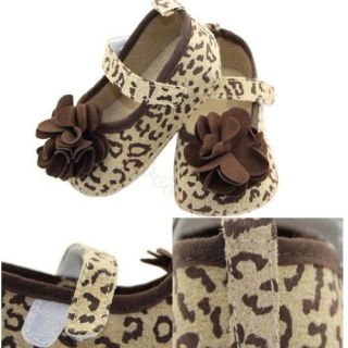 1 Pair Baby Girl Leopard Print Princess Anti Slip Soft Prewalker Shoes New