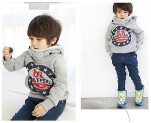 New Winter Boys Baby Toddler Clothing Warm No 68 Fleece Coat Jackets Hoodie