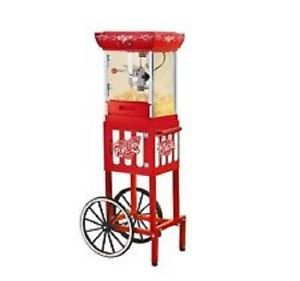 "Electric 48"" Popcorn Machine Maker Cart Stand Kettle Popper Movie Microwave DVD"