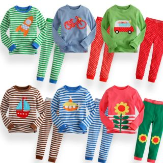 "Vaenait Baby Toddler Kid Long Sleeve Sleepwear Pajama Set "" Long Colour """