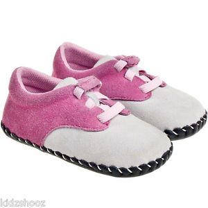 Girls Infant Toddler Suede Soft Sole Baby Shoes Pink Grey