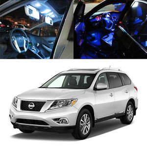 4 Light SMD Full LED Interior Lights Package for 2013 and Up Nissan Pathfinder