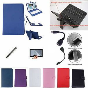 "Colorful Keyboard Case Film Stylus for 10 2"" Visual Land Prestige 10 Tablet PC"