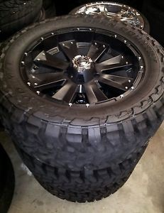 4 20 inch Black Crave Wheels Rims Tires Toyo M T 33x12 50R20 5x150 Tundra Toyota