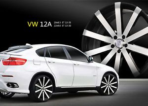 "20"" Velocity V12 Black M Wheels Rims Tires Fit Honda Toyota Kia Nissan Hyundai"