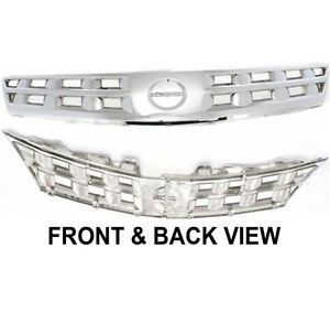 03 05 Nissan Murano Chrome Front End Grill Grille New