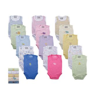 Baby Girl Boy Unisex Sleeveless 5 Pack Sleeveless Bodysuits 37020 0 24M