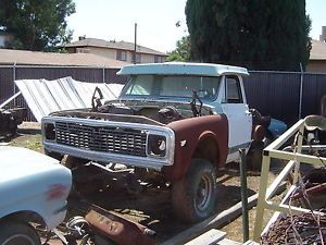 1967 1970 1972 Chevy Short Bed 4x4 Pickup Factory A C Nice and Dry CA Truck