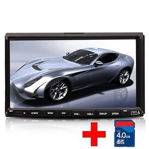 "Double 2 DIN 7"" Car Stereo DVD CD  4 Player RDS Radio USB SD Touchscreen"