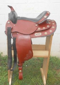 "Action Company Western Pleasure Trail Show Saddle 16"" Seat Padded Seat"