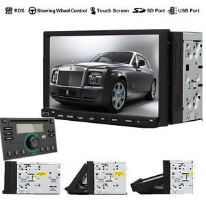 "Versio Double DIN 7"" Touch Screen Car Stereo DVD CD  Player Radio Microphone"