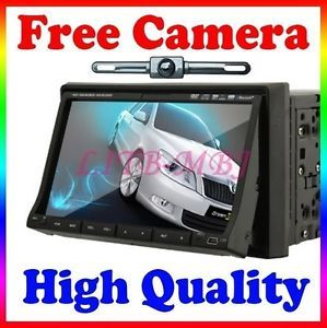 "In Dash 7"" Touch Screen Car DVD Player iPod Radio  Mic None GPS Backup Camera"