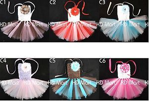 New Baby Toddler Girl Sweet Wedding Birthday Party Tutu Dress Newborn Up to 24M