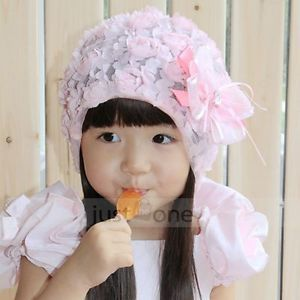 Pink Princess Lovely Children Cute Kids Girl Baby Hat Beanie for 5 20 Months