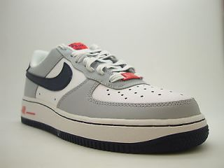 314192 169 Boys Youth Nike Air Force 1 White Black ND Blue Wo Sneakers Uptowns