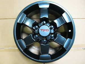 16 Toyota FJ Cruiser Black Trail Team TRD Wheels Rims 2007 2013 4 Pcs