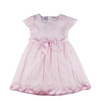 Baby Q One Piece Princess Dresses Pinks Girl Baby Kid Clothes w Flower