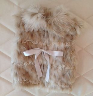 Faux Fur Baby Girl Vest Outerwear Coat Jacket Winter Spring Leopard 6 9 Months