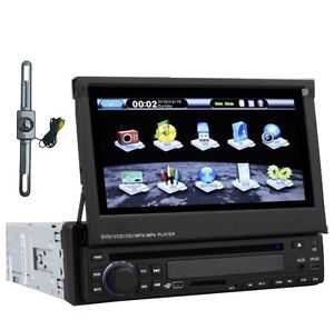 "7""Touch Screen 1 DIN Car Stereo DVD CD Player GPS RDS Radio iPod SD Map Camera"