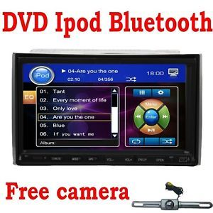 "2 DIN Car DVD CD  Player iPod 7"" Touch Screen Camera"