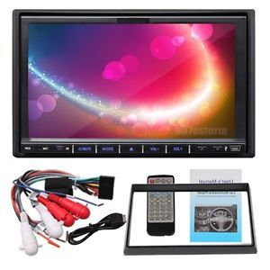 "Double DIN 7"" Touch Screen Car Stereo DVD CD  Player Radio USB SD Steeringwc"