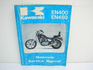 1985 1990 Kawasaki En 400 450 Motorcycle Service Shop Repair Factory Manual