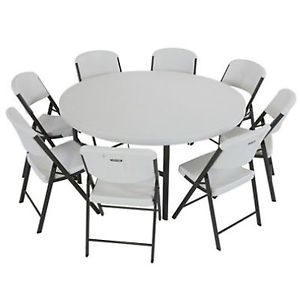 Lifetime Combo 4 Round Tables 32 Folding Chairs New Weddings Events