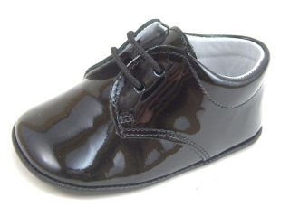 De OSU Spain Baby Boys Black Patent Leather Dress Crib Shoes PR 240 Euro