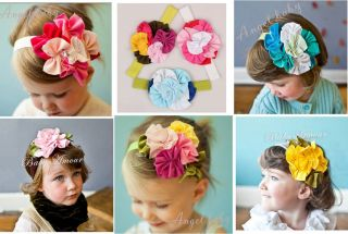 1pc Kid Girl Toddler Baby Flower Headband Hair Band Bow Headwear