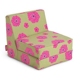 American Girl Just Like You Floral Flower Green Pink Flip Lounge Chair Doll Bed
