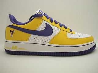 314192 151 Boys Youth Nike Air Force 1 White Varsity Purple Varsity Maze Laker