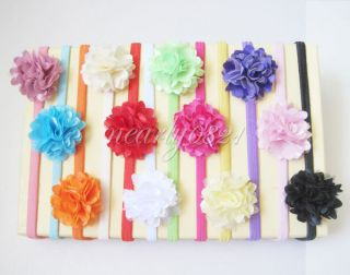 12pcs Baby Girls Toddler Headband Lace Flower Hair Band Bow Headwear Accessories