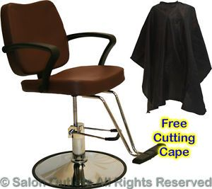 New Hydraulic Brown Barber Styling Chair Hair Cutting Spa Beauty Salon Equipment