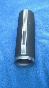 Vintage Black Chrome Art Deco Metal Glass Dixie Cups Dispenser Machine Age