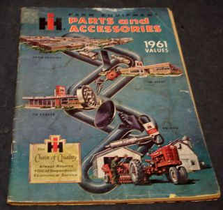 International Harvester Farm Equipment Parts and Accessories 1961 Values Catalog