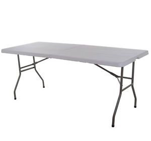 Veterans Day Special 4' Folding Table and 4 Chairs Patio Inside Outside H Duty