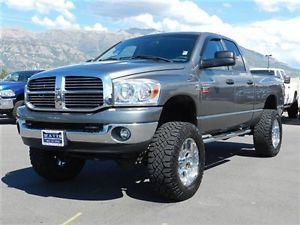 Dodge RAM Crew Cab Cummins Diesel 4x4 SLT Custom Lift Tires Wheels DVD Auto Tow